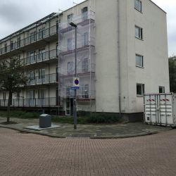 Lemkensstraat Rotterdam -Gevelonderhoud De Goede VGO - bouwkeet